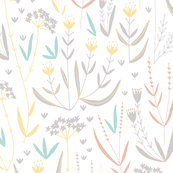 Wildflower Meadow // soft pastel florals and grasses perfect for home decor projects