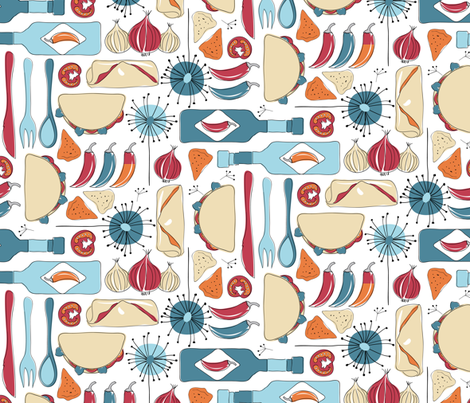 Time for tacos fabric by ebygomm on Spoonflower - custom fabric