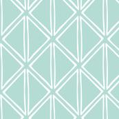 Geo print // green pastel