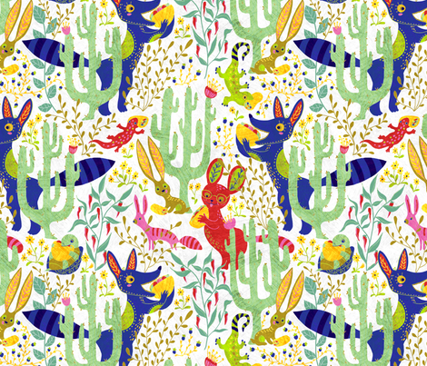 tacos-burritos-white fabric by gaiamarfurt on Spoonflower - custom fabric