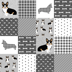 tri corgi dog fabric - pet quilt e dog, dogs, pet quilt, florals