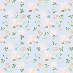 Spoonflower peach peony Pattern blue 1200 x1200