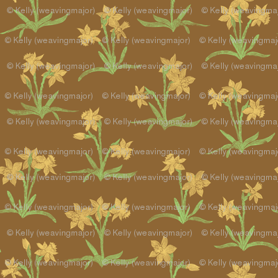 golden daffodils on brown