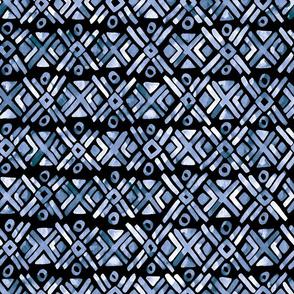 Sonoran Stripe - Deep Indigo