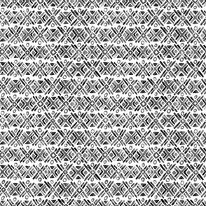 Sonoran Stripe - Black and White - Smaller Scale