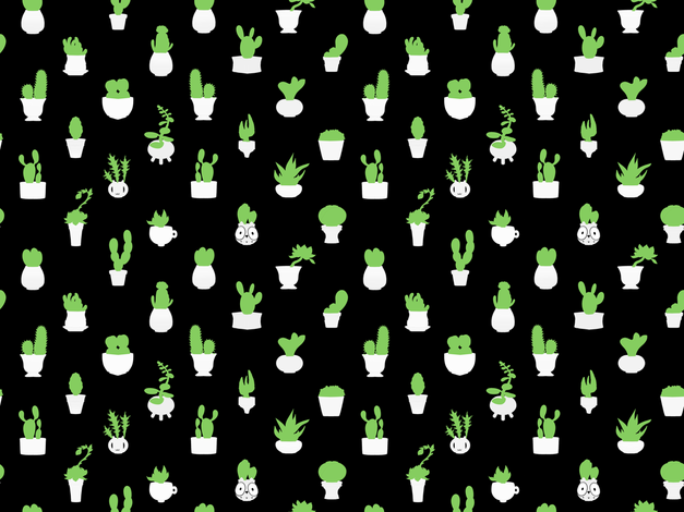 Itty Bitty Cacti 1 fabric by jadegordon on Spoonflower - custom fabric