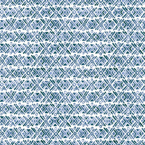 Sonoran Stripe - Indigo Blue - Smaller Scale