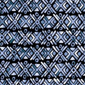 Sonoran Stripe - Deep Indigo - Smaller Scale