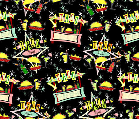 Taco Night II fabric by studioxtine on Spoonflower - custom fabric