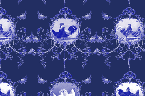 Le Toile de Poulet ink 2 fabric by lilyoake on Spoonflower - custom fabric