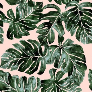 Jungle Monstera_blush-small