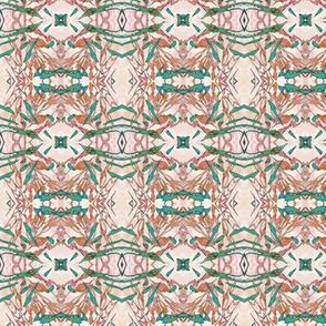 Mock Floral Blush Abstract Diamond Pattern