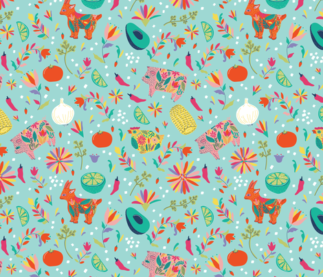 La Cocina fabric by little_luck_designs on Spoonflower - custom fabric