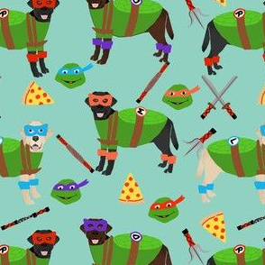 labrador mutant turtles - dog dogs, pet, cartoon, cosplay, comic, halloween dogs