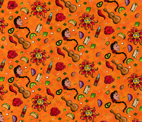 TacoBurritoPattern fabric by cristinacreative on Spoonflower - custom fabric