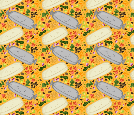 Neato Burritos fabric by lucyjunedesigns on Spoonflower - custom fabric