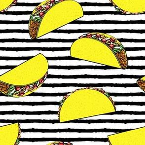 tacos on black stripes