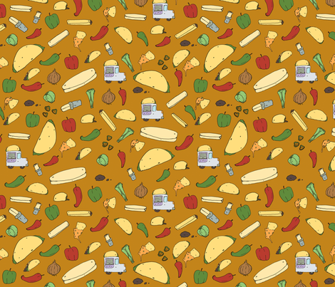 Tacos & Burritos  fabric by svaeth on Spoonflower - custom fabric