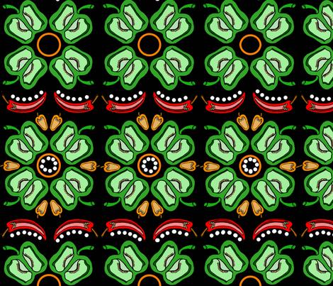 Pepper halves fabric by gcatmash on Spoonflower - custom fabric