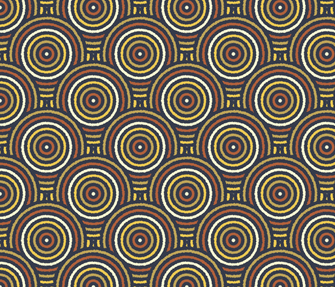 Furry Bayeux Concentric Scales fabric by eclectic_house on Spoonflower - custom fabric