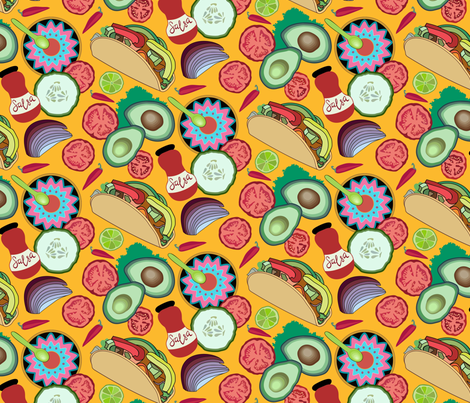 Taco night fabric by dina's_natural_avenue on Spoonflower - custom fabric