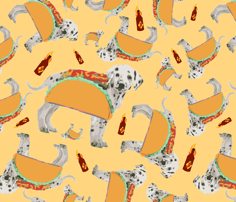 Hot Taco fabric by xxgingerxx on Spoonflower - custom fabric
