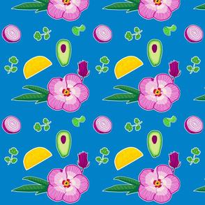 Hibiscus Taco Oilcloth