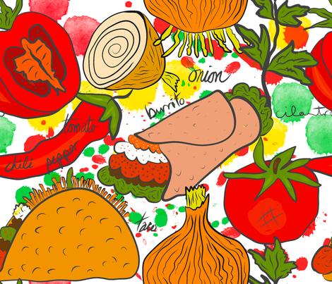 Taco Tuesday fabric by orangefancy on Spoonflower - custom fabric