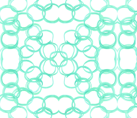 Going around in circles - Aqua fabric by debra_may_himes,_asid on Spoonflower - custom fabric