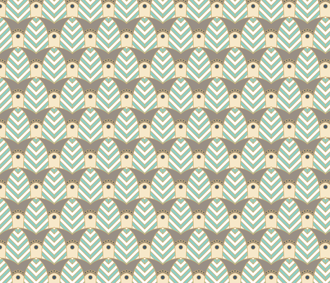 Howard's Déco Chevron fabric by jewelraider on Spoonflower - custom fabric