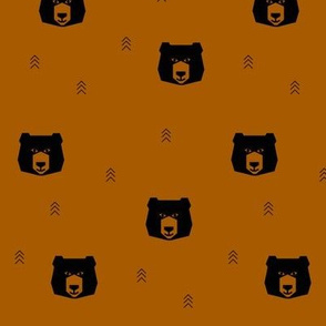bear head - rust small