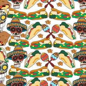 Burritos and Nachos for  mexican machos