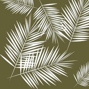 palm leaf - olive green
