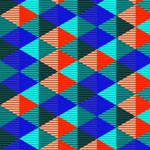 Striped Diamond Grid 1