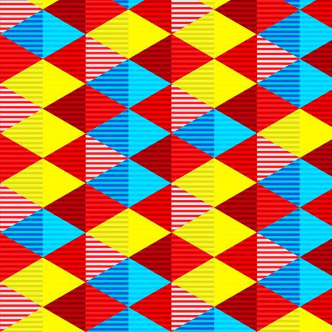 Striped Diamond Grid 2 fabric by jadegordon on Spoonflower - custom fabric
