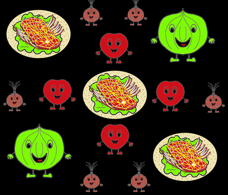 Taco Vege Delight2 fabric by b2b on Spoonflower - custom fabric