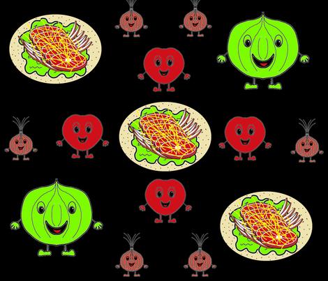 Taco Vege Delight2 fabric by b2b on Spoonflower - custom fabric