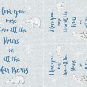 Polar Bear Blanket and lovey 54in MINKY