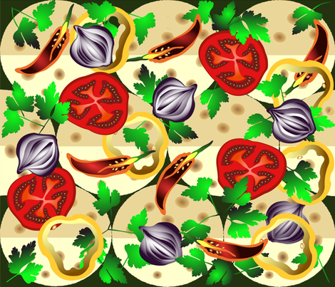 Summer tacos fabric by inna_alborova on Spoonflower - custom fabric