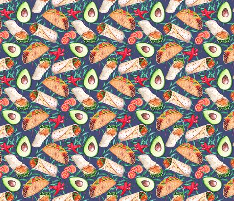 mexican cuisine fabric by pixiesandlynn on Spoonflower - custom fabric