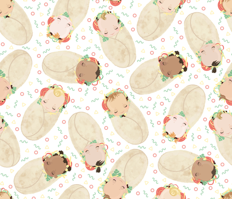 Baby Burritos - Tacos and Burritos Challenge fabric by themelonseed on Spoonflower - custom fabric