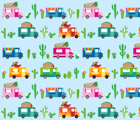 Mexican Food Trucks fabric by elysesanderson on Spoonflower - custom fabric