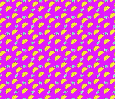 80's Taco Remix fabric by fueledbysugar on Spoonflower - custom fabric