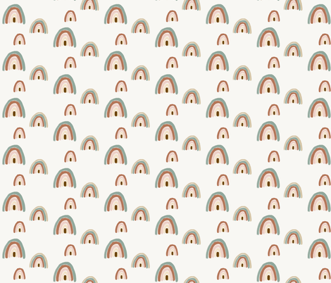 Watercolor rainbows (small) fabric by sunny_afternoon on Spoonflower - custom fabric