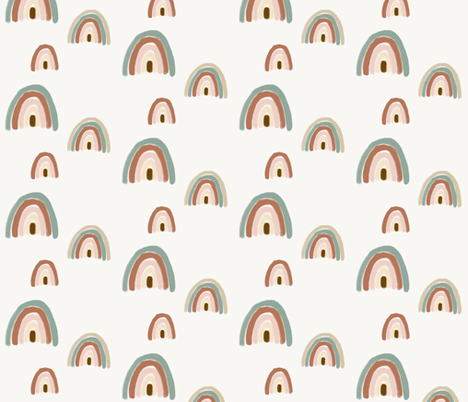 watercolour rainbow  fabric by sunny_afternoon on Spoonflower - custom fabric