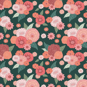 floral on dark green (small)