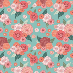 floral on teal (small)