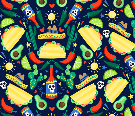 veggie tacos-01 fabric by laura_may_designs on Spoonflower - custom fabric
