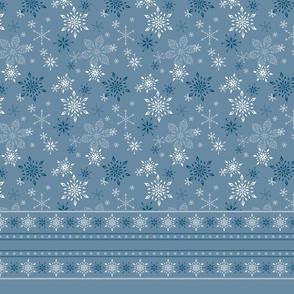 Snowflake Border Fabric