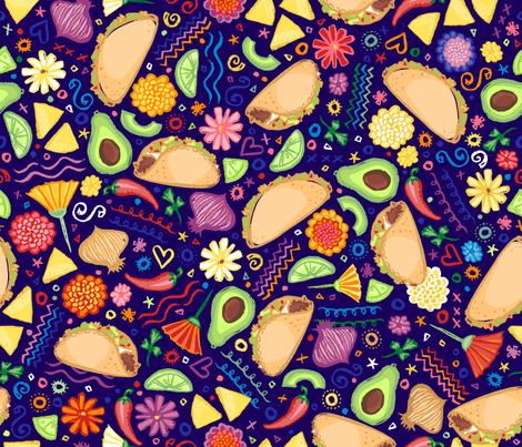 Taco Fiesta fabric by creativetaylor on Spoonflower - custom fabric